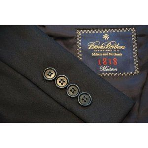 Brooks Brothers 1818 Madison Navy Blue Saxxon suit